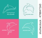 dolphins   line style... | Shutterstock .eps vector #478847260