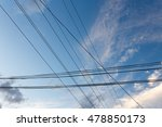 electrical wires on a... | Shutterstock . vector #478850173