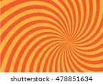 orange twist shape pattern...