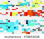 colorful glitched shapes.... | Shutterstock .eps vector #478853038
