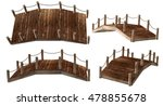 3d Rendering Wood Bridge