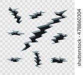 cartoon cracks in the ground... | Shutterstock .eps vector #478860304