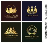 lotus logo | Shutterstock .eps vector #478861888