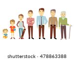 men generation at different... | Shutterstock .eps vector #478863388