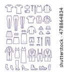 female and male casual clothes  ... | Shutterstock .eps vector #478864834