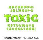 toxic font. green liquid abc.... | Shutterstock .eps vector #478865566