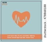 heart pulse icon | Shutterstock .eps vector #478868188