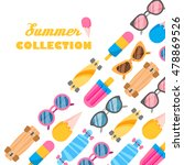 summer collection of objects | Shutterstock .eps vector #478869526