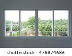 glass window sliding on white... | Shutterstock . vector #478874686