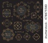 vintage floral set monogram... | Shutterstock .eps vector #478875580