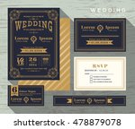 vintage typography wedding... | Shutterstock .eps vector #478879078