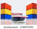 container ship for the import