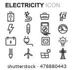 vector black line electricity... | Shutterstock .eps vector #478880443