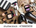 overhead view of essential...   Shutterstock . vector #478885858