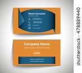modern simple business card set ... | Shutterstock .eps vector #478889440