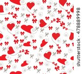 seamless pattern with hearts... | Shutterstock .eps vector #478889998