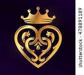 golden luckenbooth brooch... | Shutterstock .eps vector #478891189