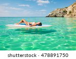 beautiful woman relaxing on a... | Shutterstock . vector #478891750