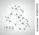 iraq mosaic grey vector outline ... | Shutterstock .eps vector #478893370