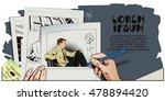 stock illustration. people in... | Shutterstock .eps vector #478894420
