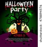 halloween poster illustration... | Shutterstock .eps vector #478894576
