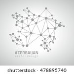 azerbaijan grey dot vector... | Shutterstock .eps vector #478895740