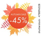 autumn sale 45  off circle... | Shutterstock .eps vector #478896328