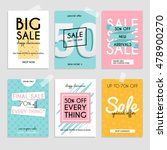 set media banners with discount ... | Shutterstock .eps vector #478900270