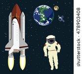 astronaut floating in space  ... | Shutterstock .eps vector #478903408