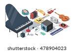 music  vector isometric...   Shutterstock .eps vector #478904023