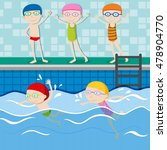 people swimming in the swimming ... | Shutterstock .eps vector #478904770