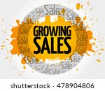 growing sales words cloud ... | Shutterstock .eps vector #478904806