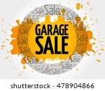 garage sale words cloud ... | Shutterstock .eps vector #478904866