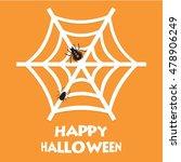 happy halloween spider on nets | Shutterstock .eps vector #478906249