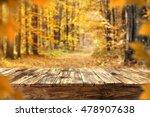 Autumn Background In Golden...