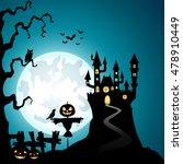 halloween background with... | Shutterstock .eps vector #478910449