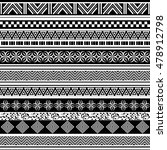 tribal seamless pattern.... | Shutterstock .eps vector #478912798