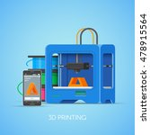 3d printing vector concept... | Shutterstock .eps vector #478915564