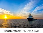 lone tugboat at sea in the... | Shutterstock . vector #478915660