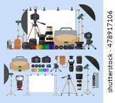 vector set of photography... | Shutterstock .eps vector #478917106