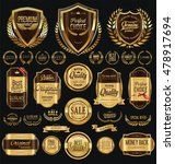 quality golden badges and... | Shutterstock .eps vector #478917694