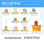online shopping infographic... | Shutterstock .eps vector #478917910