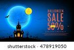 halloween sale web banner.... | Shutterstock .eps vector #478919050