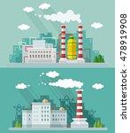 industrial landscape set. plant ... | Shutterstock .eps vector #478919908