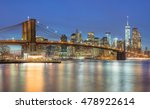 panoramic view of  brooklyn... | Shutterstock . vector #478922614