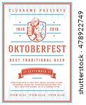 oktoberfest beer festival... | Shutterstock .eps vector #478922749