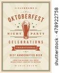 oktoberfest beer festival... | Shutterstock .eps vector #478922758