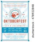 oktoberfest beer festival... | Shutterstock .eps vector #478922848