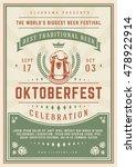 oktoberfest beer festival... | Shutterstock .eps vector #478922914
