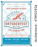 oktoberfest beer festival... | Shutterstock .eps vector #478922926